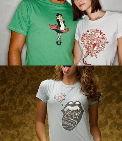 algumas das estapas disponiveis no catálogo da Camisetaria