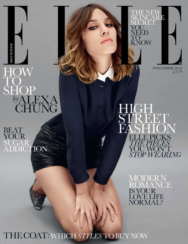 Alexa Chung | Elle UK November 2010